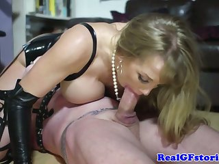 Funny femdom wife assfucked by her slaveboy