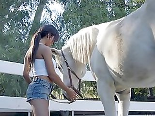 Pretty Young Whore Gets Fucked In A Farm