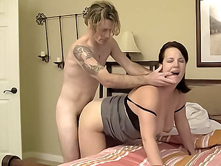 Big tit brunette MILF is craving a good pounding