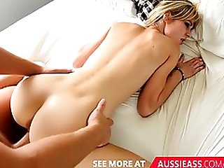 Aussie Boy Fucks His Blonde Skinny Girlfriend Doggy Style In His Bedroom