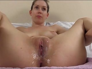 Cuckold creampie humiliation talk from a beauty