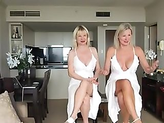 Two Mature Lady Upskirt Nipples And Crossed Legs One Video 3