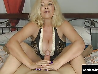 Handjob Hottie Charlee Chase Jacks You Off & Milks Your Cock
