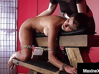 Cambodian Cougar Maxine X Bound & Silenced With Mexican Ho!