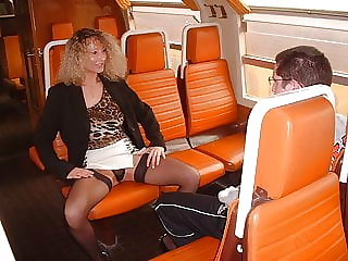 Mom and virgin boy in train