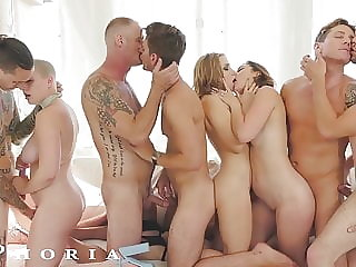 BiPhoria - Bisexual Couple Turns Party Into Wild Orgy