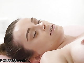 Young Lady Experiences Lesbianism During Her Massage