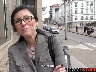 Czech MILF Secretary Picked up and Fucked