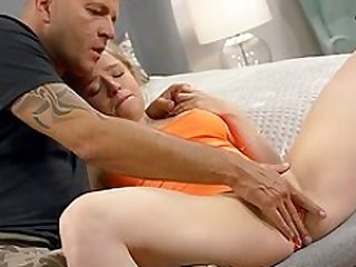 Blonde virgin broad gives a fabulous blowjob