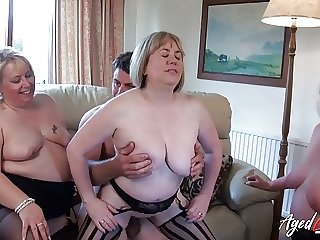 AgedLovE, Group of Matures Has Hard Rough Sex Action