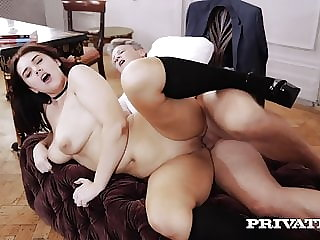 Private.com - Thick School Girl Effie Diaz Fucked By Teacher!